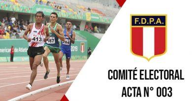 Oficio 03 CEFDPA – Acta del Comité Electoral Federación Deportiva Peruana de Atletismo